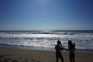 Der var bølger på omkring 2,5-3 meter! Så suferne gav den gas!