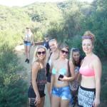 Josephine, Line, Adrianna, mig og Cecilie.