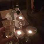 Havde os en hyggelig aften med nogle glas vin!